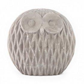Chouette Décorative en Ciment Athene h 18,8 cm