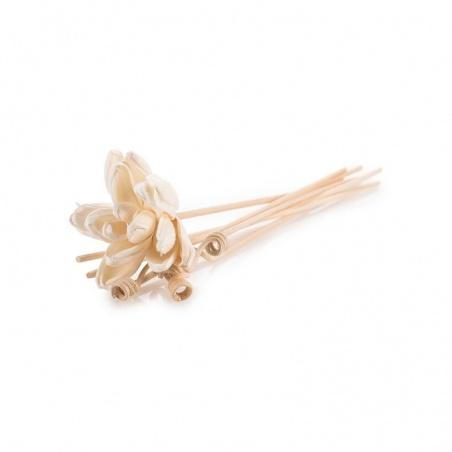Bâtonnets de rotin en forme de fleur pour cache parfum