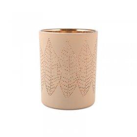 Photophore Leaf Beige Or Moyen modèle