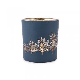 Photophore Arbre Tree Bleu Or Petit modèle