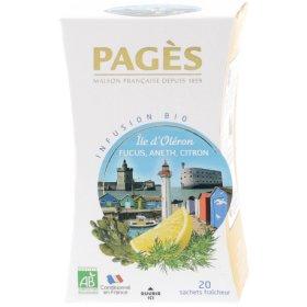 Infusion Ile d Oléron Fucus, Aneth, Citron  BIO Pagès