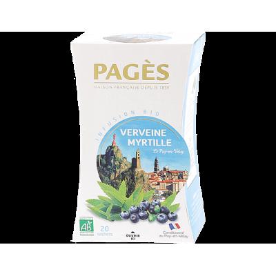 Infusion Verveine Myrtille le Puy en Velay  BIO Pagès