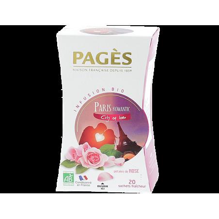 Infusion Paris Romantic Pétales de rose BIO Pagès