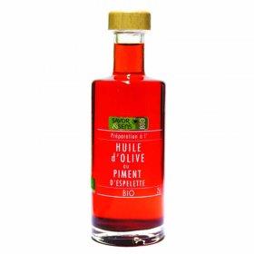 Huile d'olive au Piment d'Eseplette Bio Savor et Sens 250 ml