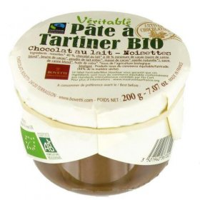 Véritable Pâte à tartiner Chocolat Lait Noisette BIO Bovetti 350g
