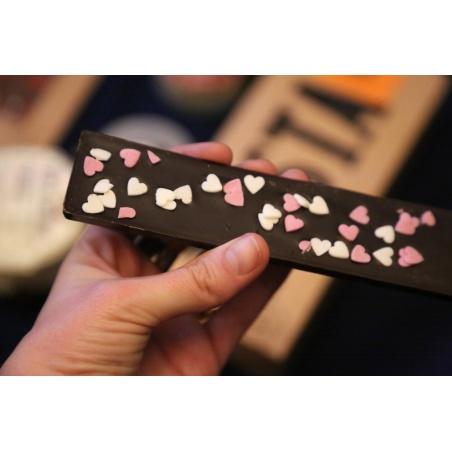 Mini Tablette Chocolat Noir Coeurs 73% cacao