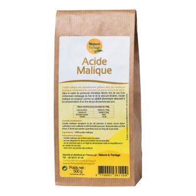 Acide Malique  500 g  - sans additif- Nature et Partage Promotion