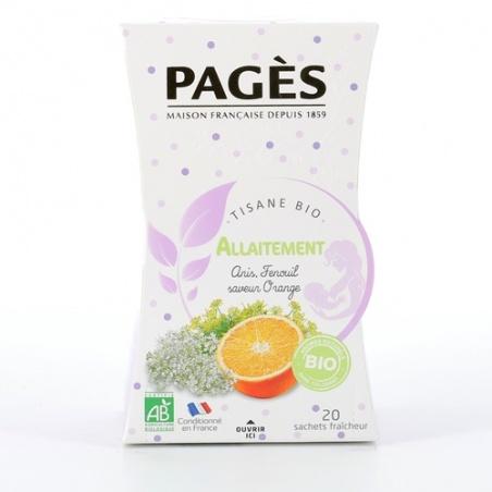 Infusion Allaitement Tisane bio Anis Fenouil saveur Orange BIO Pagès