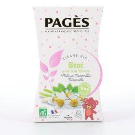 Infusion Bébé Tisane bio Mélisse Camomille Citronnelle  BIO Pagès