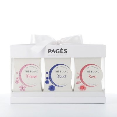 Coffret Cadeau Thé  blanc Carton Pagès  Bio 40 sachets