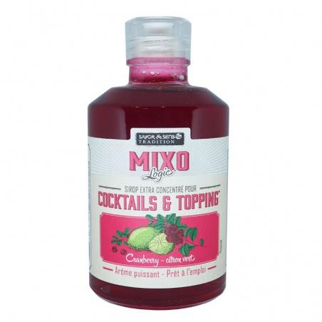 Sirop Extra concentré Cranberry Citron Vert pour cocktail topping 250 ml Savor et Sens