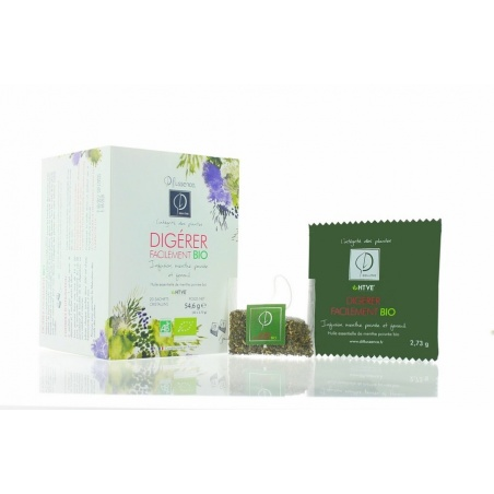 INFUSIONS BIO x 20 Digérer Facilement Diffussence