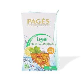 Infusion Rafraichissante LIGNE Thé vert saveur menthe citron BIO Pagès