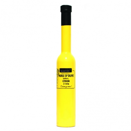Huile d'olive Citron Thym 200 ml Savor et Sens