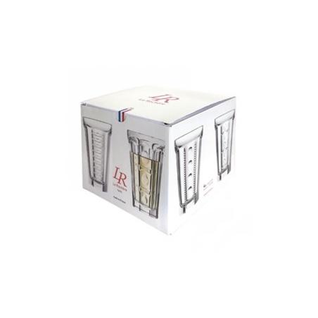 Coffret SAGA Set de 4 verres Long Drink La Rochère 34,8 cl