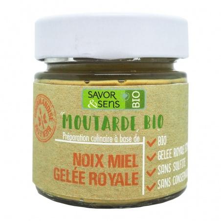 Moutarde Noix Miel Gelée Royale Bio 130g