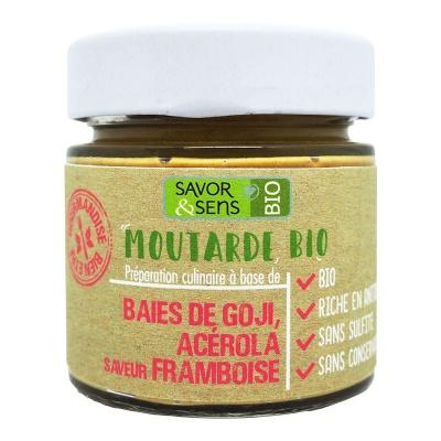 Moutarde Baies de Goji, acérola, framboise Bio 100 g