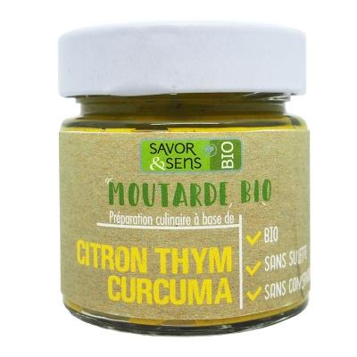 Moutarde Citron, Thy, Curcuma Bio 100 g