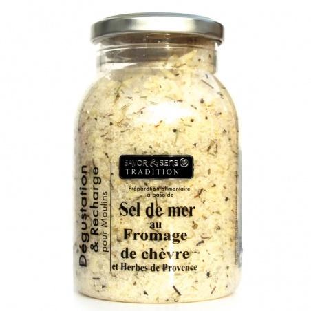 Recharge de Sel de mer fromage de Chèvre herbes de provence Savor et Sens Tradition