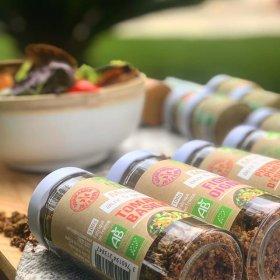 Muesli salé Poivron Piment d'Espelette aux 5 graines dorées pour Salades Savor et Sens