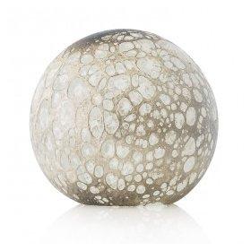 Lampe Globe - Cratère - Blanc Argent - La Rochère à l'unité