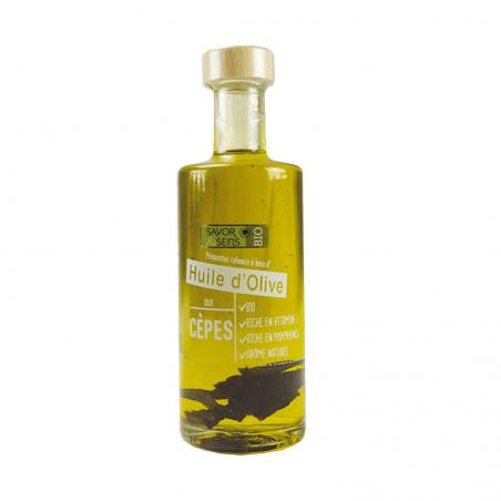 Huile d'olive aux cèpes Bio...