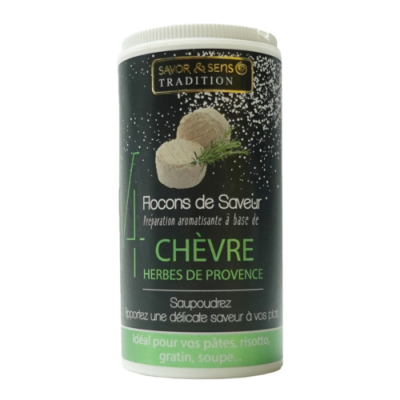 Flocons de Saveur Préparation aromatisé aux saveurs de Chèvre Herbes de Provence Savor et Sens