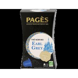 Capsules 10 Thés Noir Earl Grey BIO Pagès