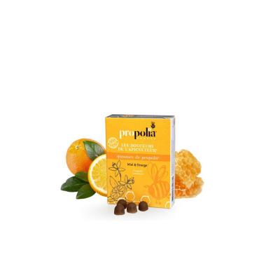 Gommes de propolis miel et orange 45 g Propolia