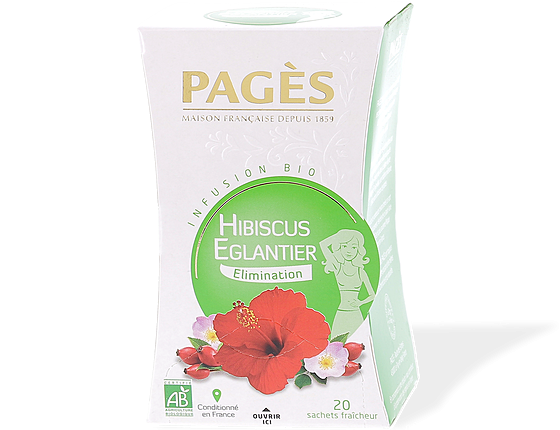 Infusion Hibiscus Eglantier BIO Pagès