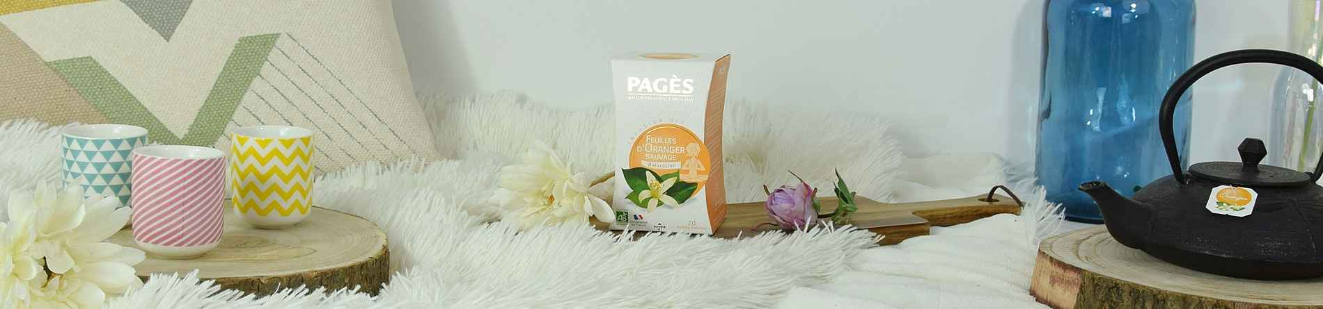Infusion Feuilles d Oranger Sauvage Relaxation BIO Pagès 20 sachets