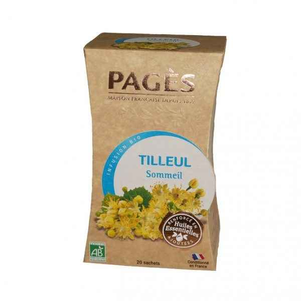 infusions Tilleul Sommeil BIO Kraft Pagès herboriste du Velay