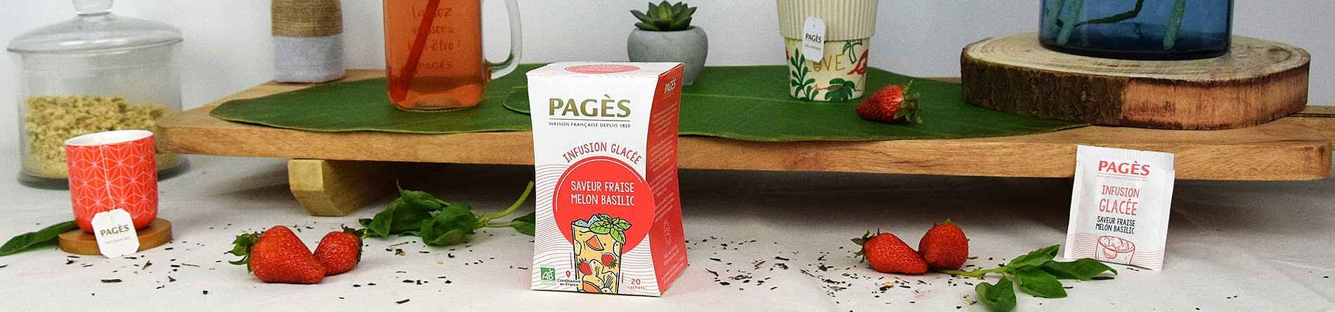 infusion glacée fraise melon basilic bio pages 20 sachets