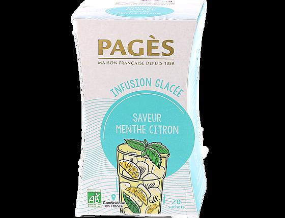 infusion glacée menthe citron bio pages 20 sachets