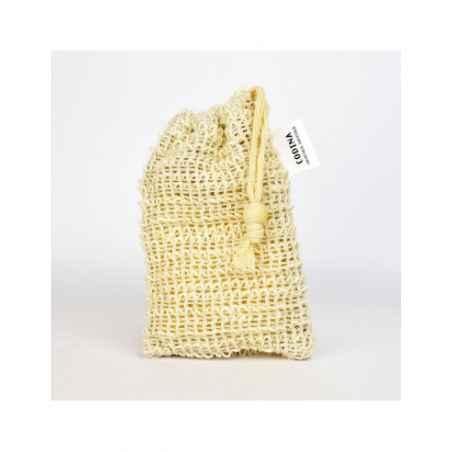 Poche Sac à savon Gant Naturel 100 % coton Ramie CODINA Porte savon Rempli de Bondillons de savons