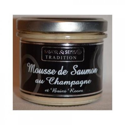 Mousse Saumon Fumé Champagne Baies Rose