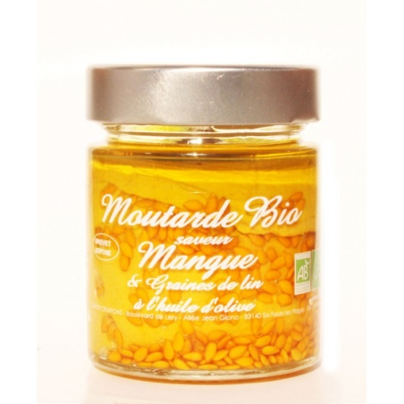 Moutarde Mangue Graines de Lin Bio 130g