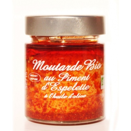 Moutarde Piment d'Espelette Bio 130g
