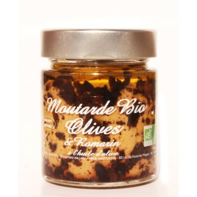 Moutarde Olives et Romarin Bio 130g