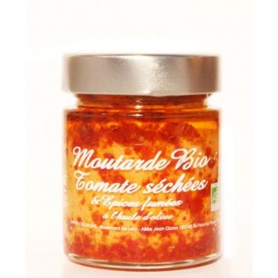 Moutarde tomates séchées et épices fumées Bio 130g