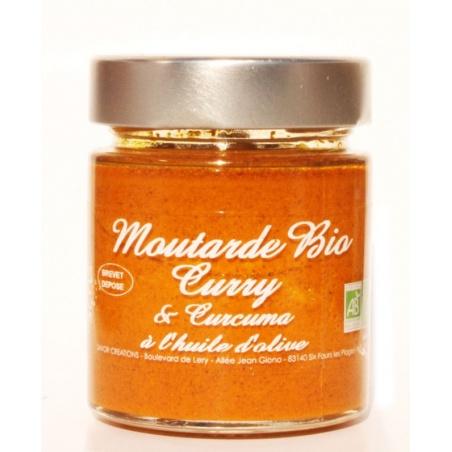 Moutarde Curry et Curcuma Bio 130g