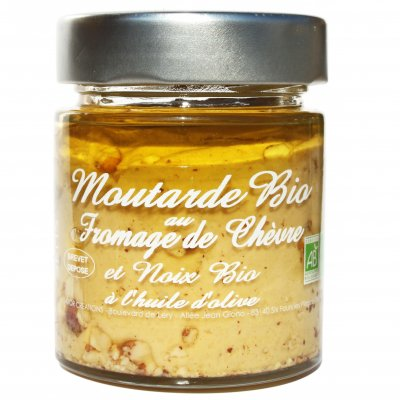 Moutarde Fromage de chèvre et Noix 130g - Savor et Sens -